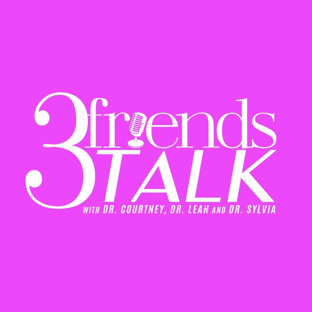 3 friends TALK podcast show art