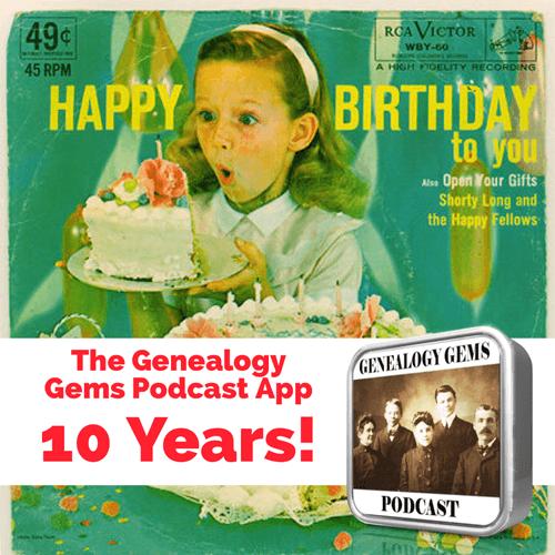 Genealogy Gems Podcast App