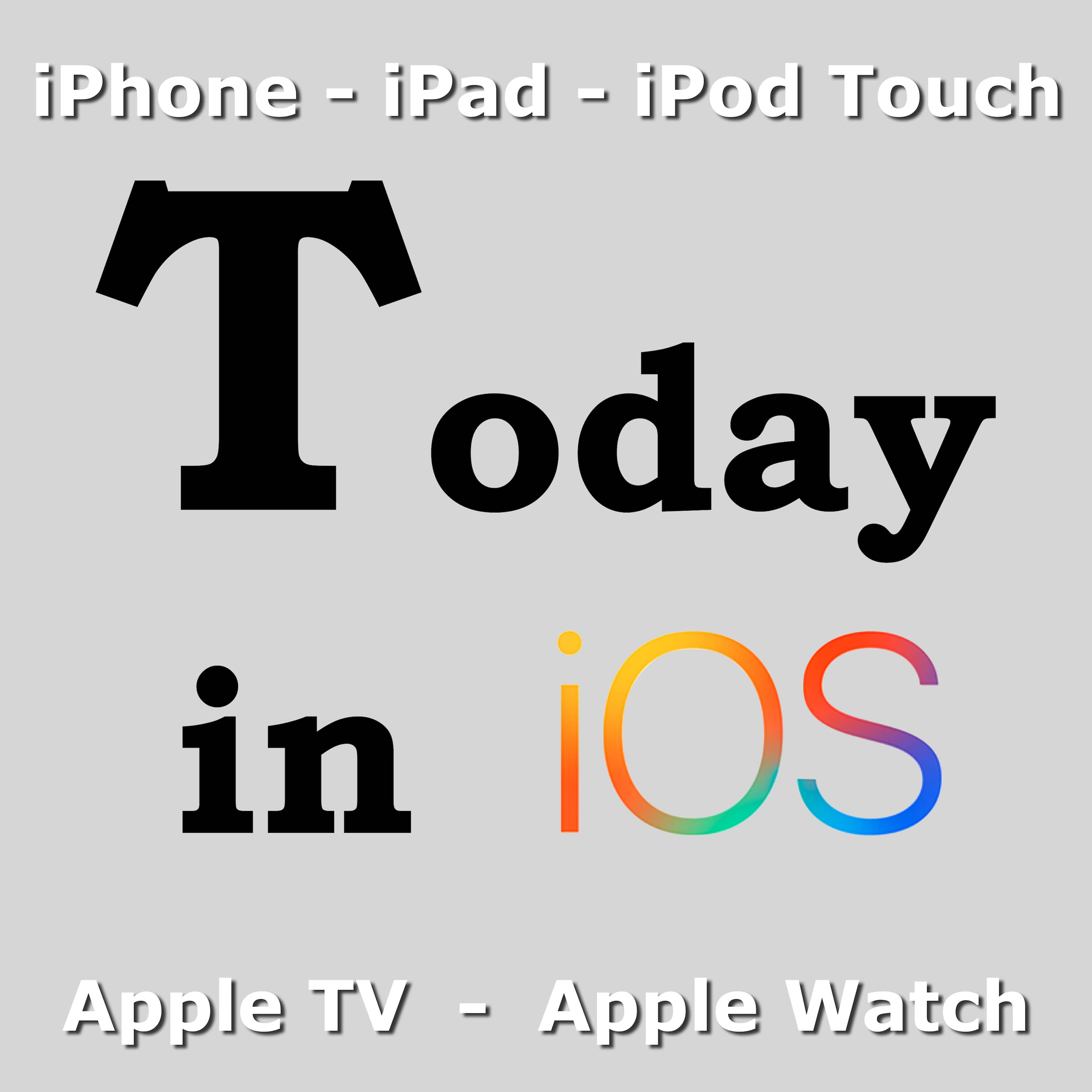 Today in iOS Podcast - The Unofficial iOS, iPhone, iPad, Apple Watch and iPod Touch News and iPhone Apps Podcast logo