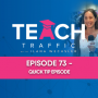 Artwork for 73 - Quick Tip Episode - How To Start Preparing For Black Friday / Cyber Monday in 2020