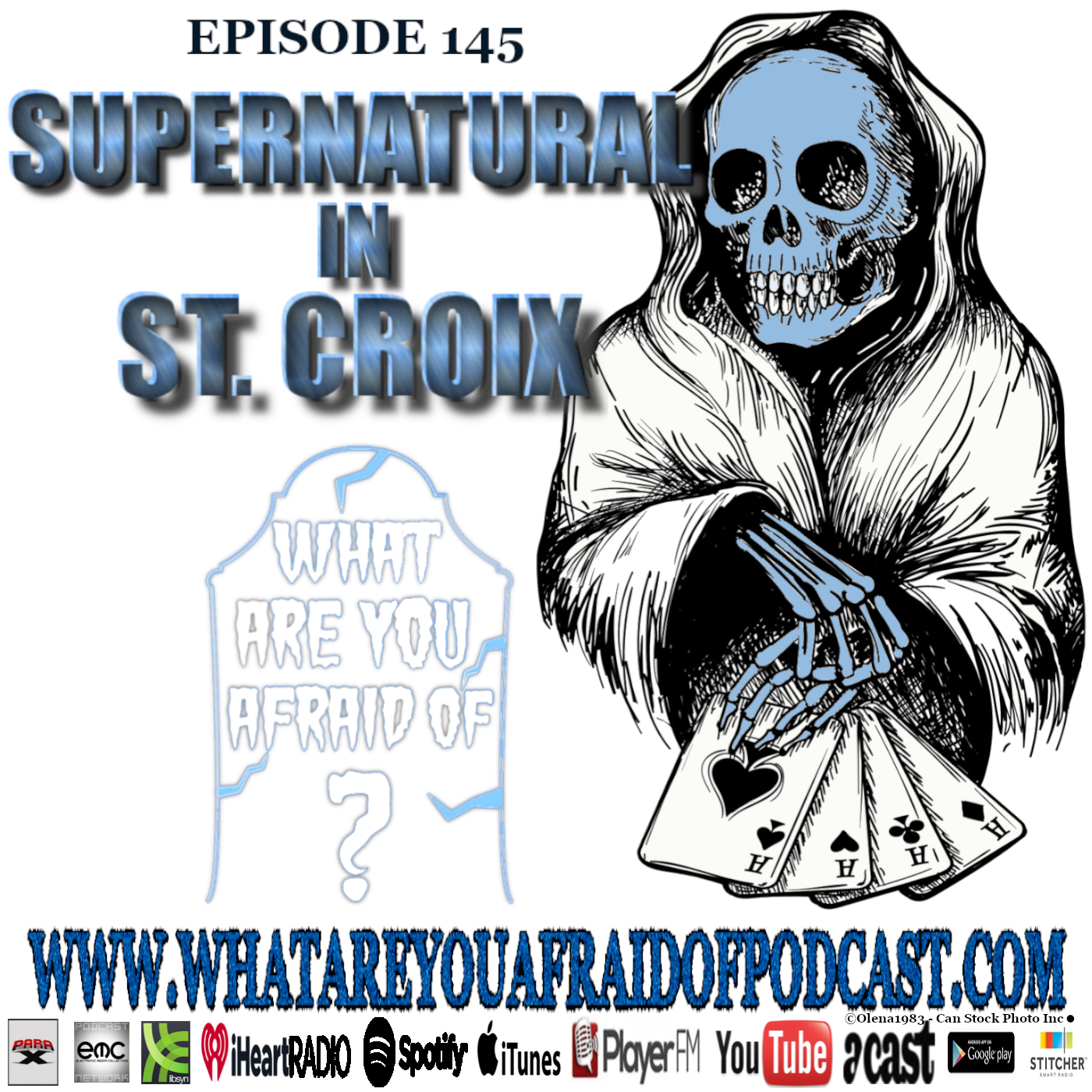 Cover for episode 145 of What Are You Afraid Of? Horror & Paranormal Show