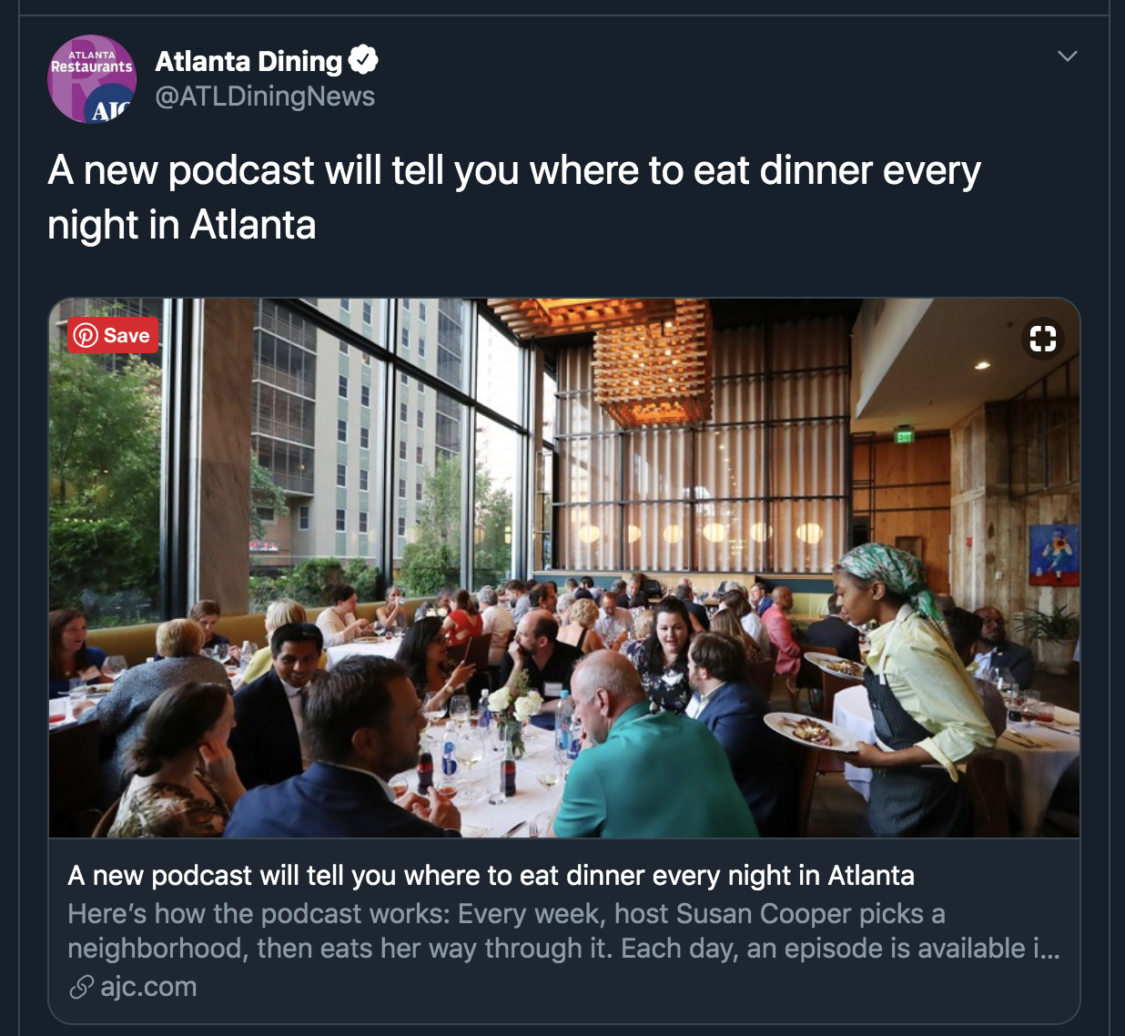 AJC article about Dinner Tonight Atlanta