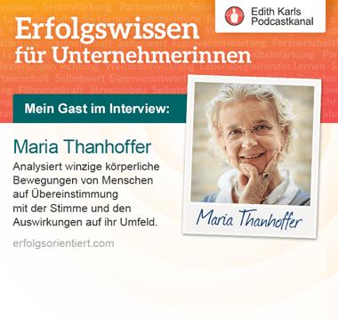 195 – Im Gespräch mit Maria Thanhoffer , Teil 2