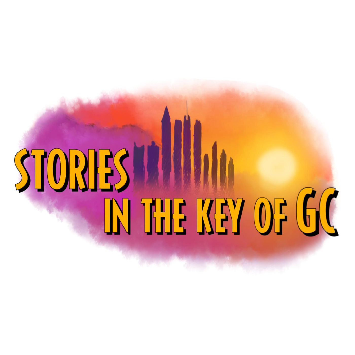 Stories in the key of GC's podcast show art