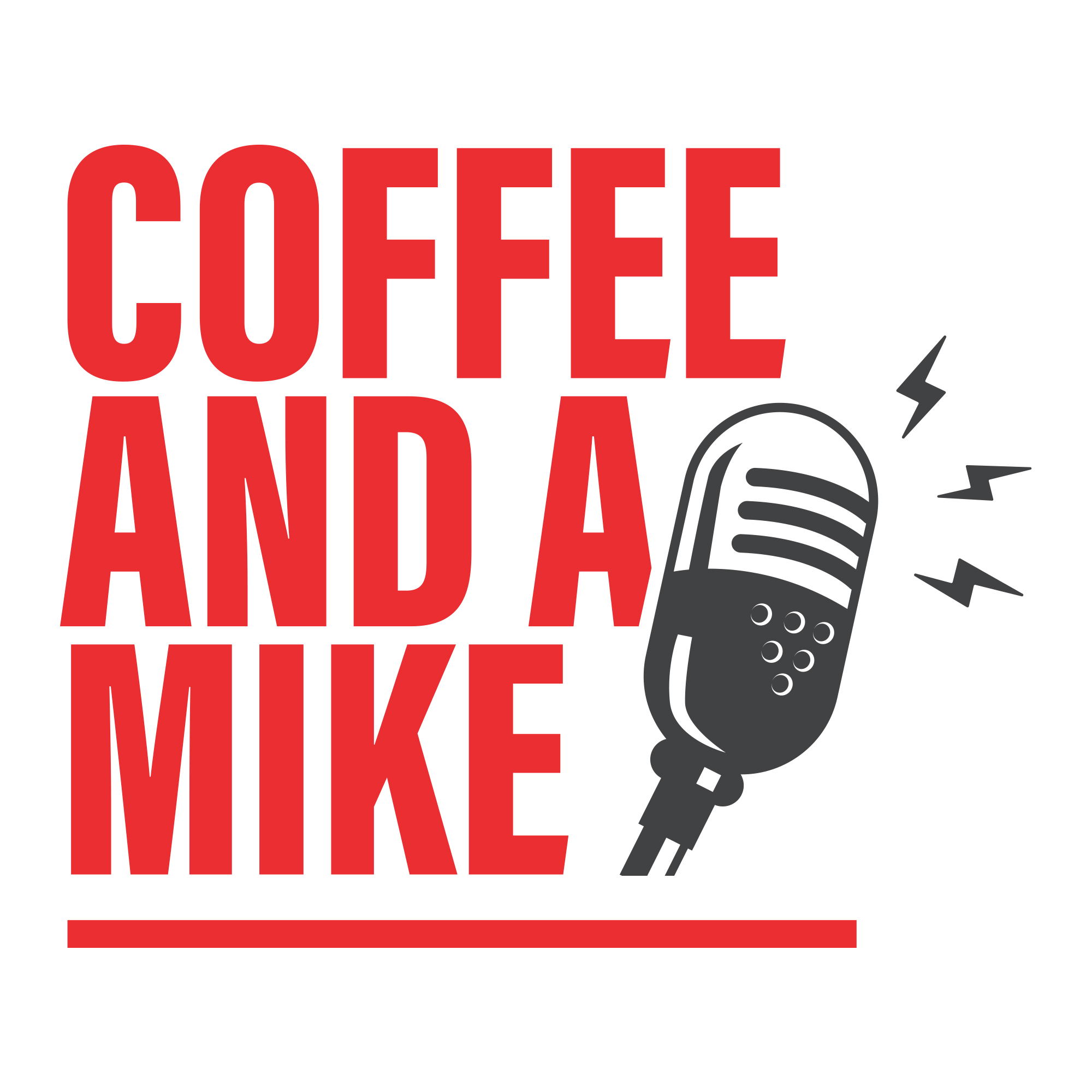 Coffee and a Mike show art