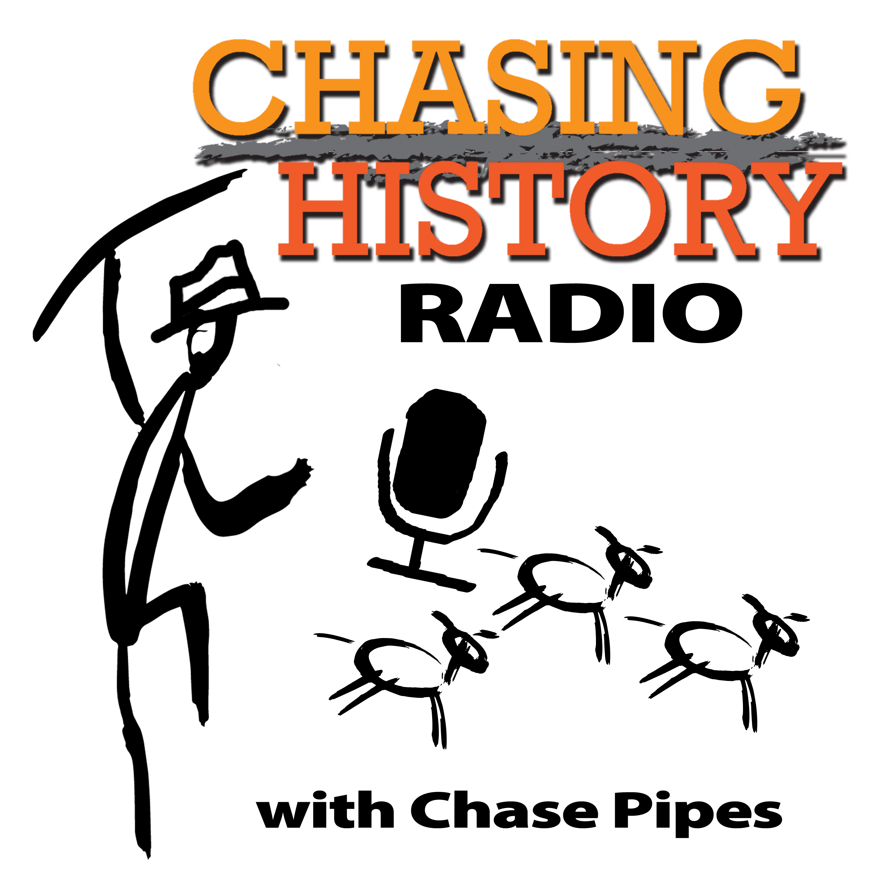 Chasing History Radio show art