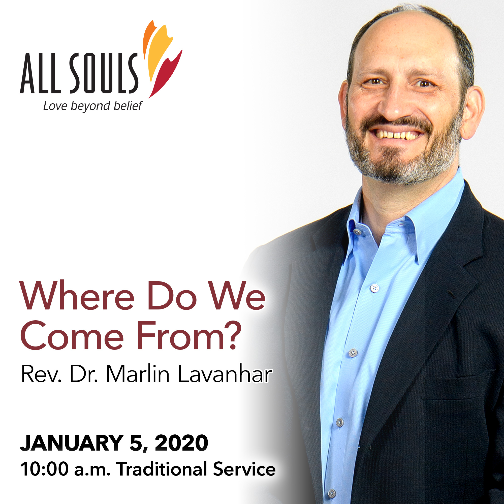 'WHERE DO WE COME FROM?' - A sermon by Rev. Dr. Marlin Lavanhar (Traditional Service) show art