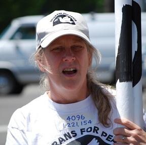 Veterans for Peace President Leah Bolger