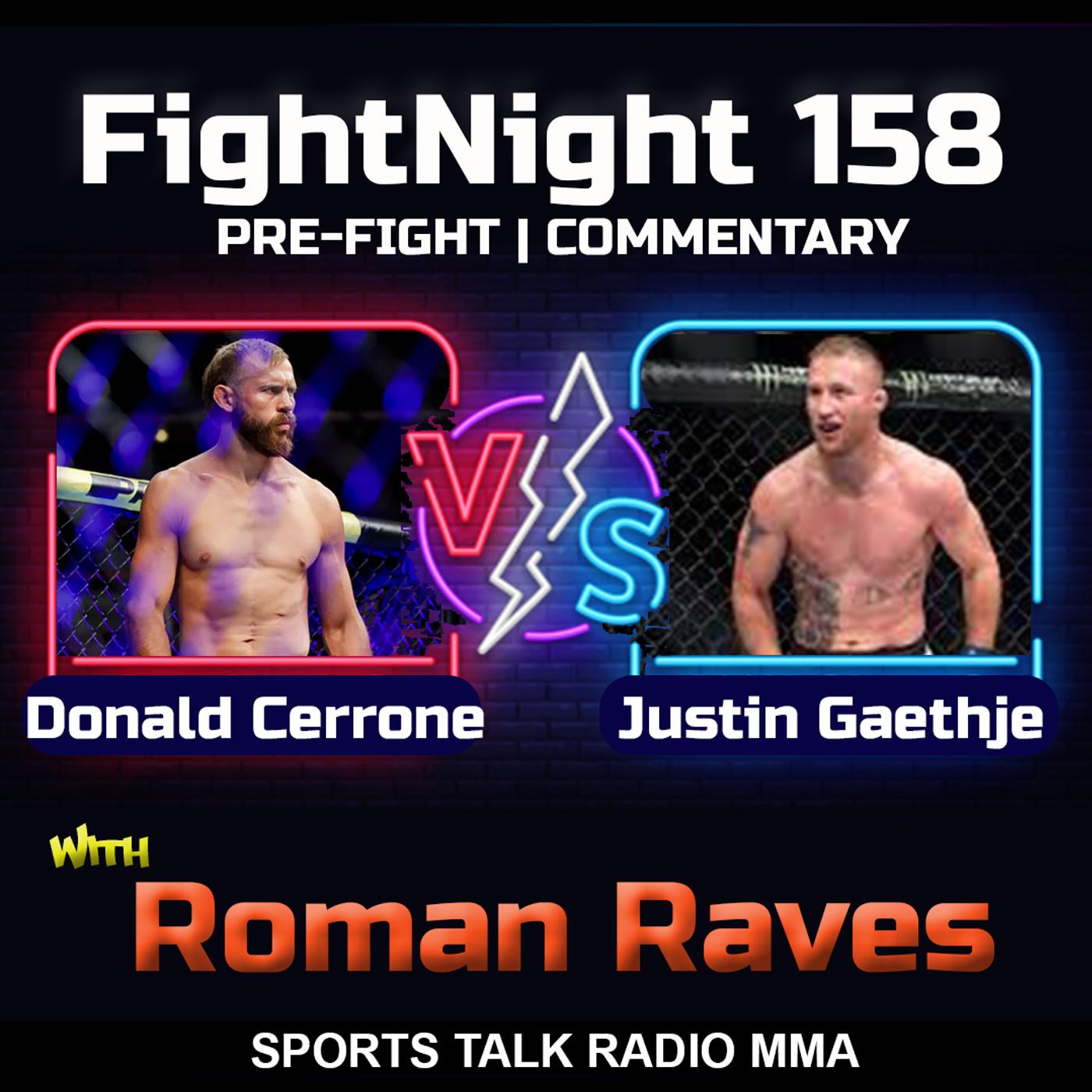Artwork for Donald Cerrone vs Justin Gaethje FightNight 158