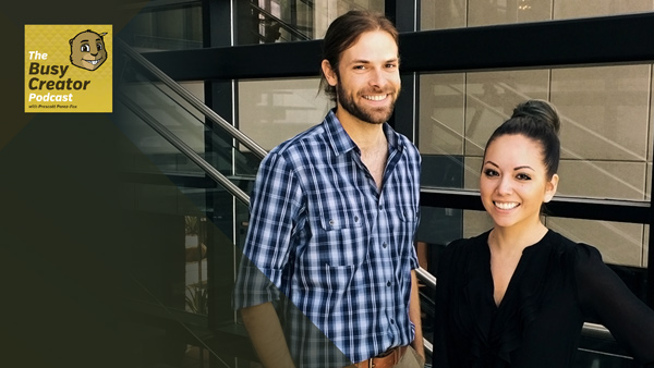 Workflows for a Small Software Company with In-House Designers Kyle Bollinger & Kristin Burkhart — The Busy Creator Podcast 83