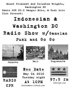 5-4-10 Punk Life Zine presents: Gamelan, Go-Go and Punk from Indonesia to DC