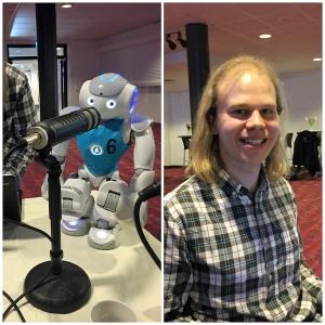 133 Näringslivsdagen 2017- Roboten Ariel och dess pappa Fredrik Löfgren