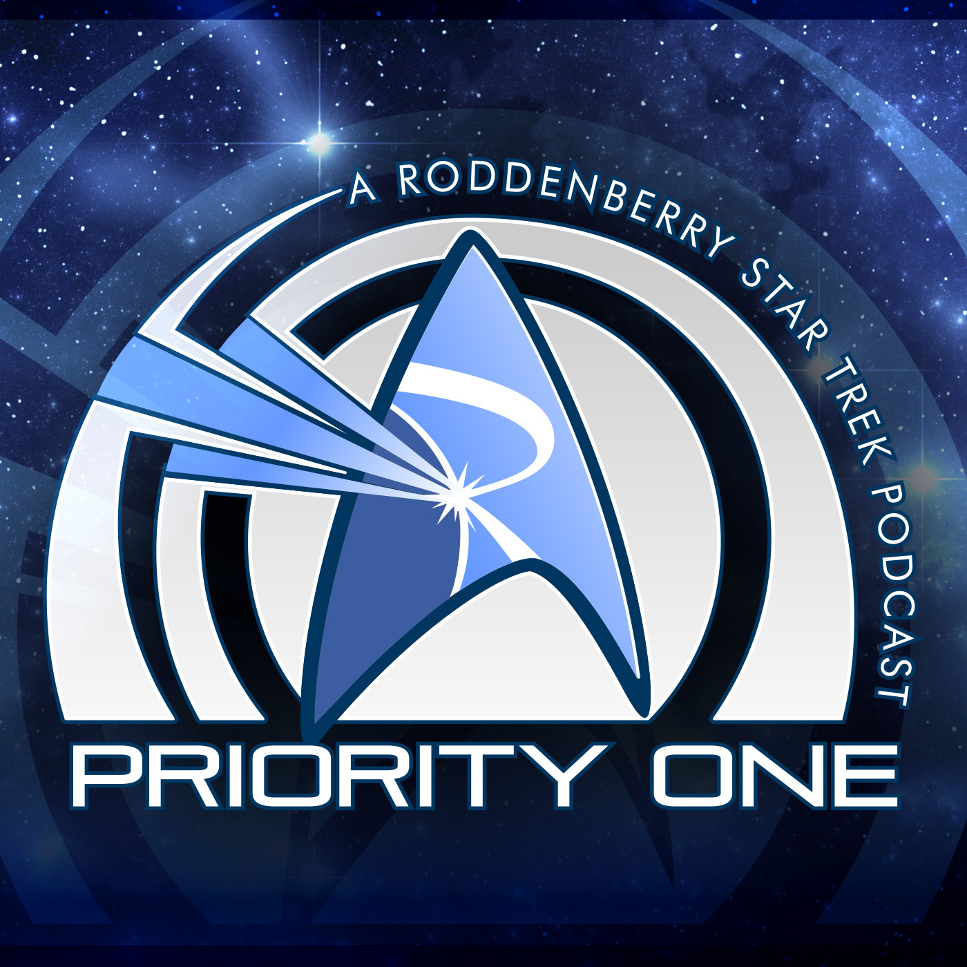 Artwork for 377 - STLV part 2 with Mary Wiseman, Mike Okuda, and Andrew Robinson | Priority One: A Roddenberry Star Trek Podcast