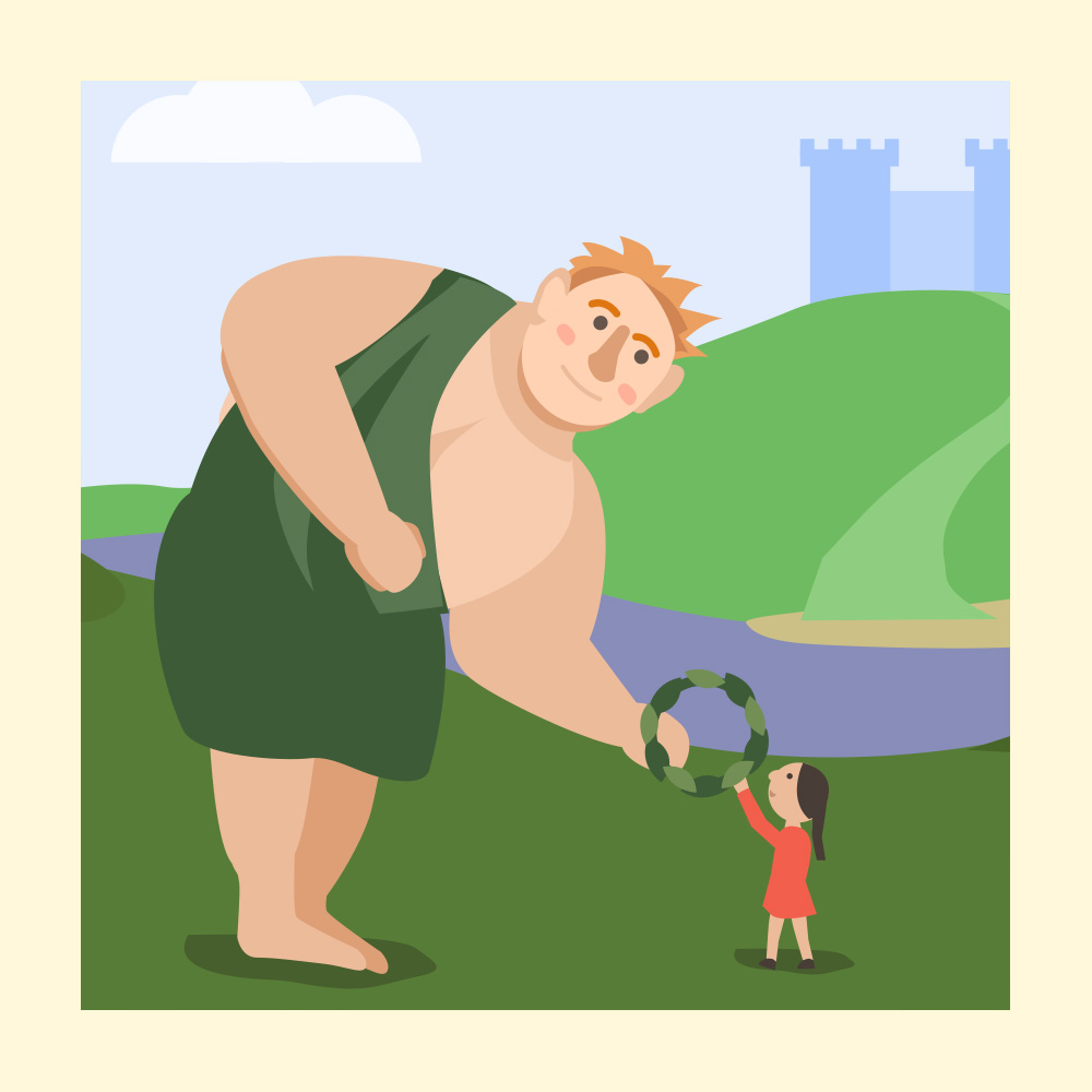 Spread Christmas Kindness with this Scottish Tale- Storytelling Podcast for Kids - The Giant King:E60 show art
