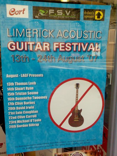 Limerick Acoustic Guitar Festival - 13th-24th August