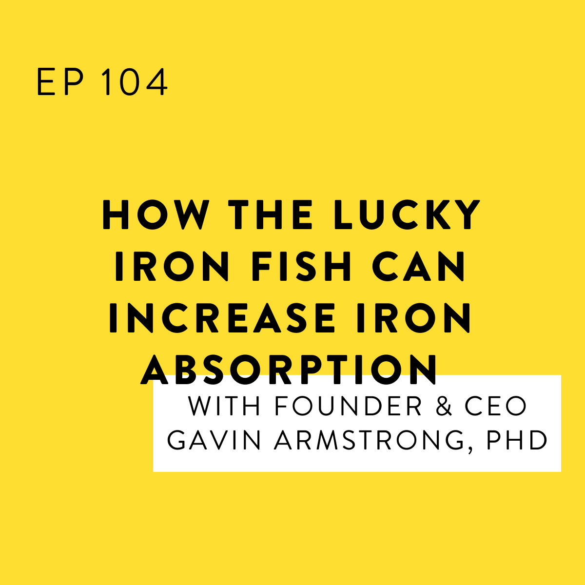 How the Lucky Iron Fish Can Increase Iron Absorption with Founder & CEO Gavin Armstrong, PhD