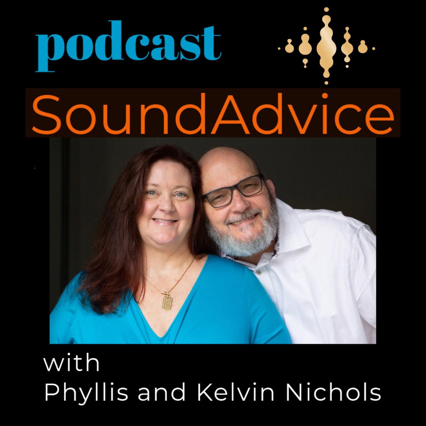 Podcast SoundAdvice with Phyllis and Kelvin Nichols show art