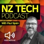 Artwork for NZ Tech Podcast 374: Airport trials virtual officer, Drone carries passenger, Intel laser projection Smartglasses