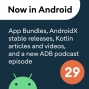 Artwork for 29 - App Bundles for MAD Skills, AndroidX stable releases, and much more!