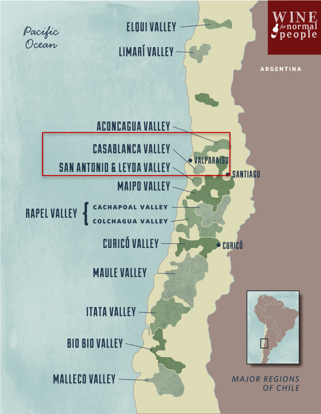 Chile Wine Map Wine For Normal People Book