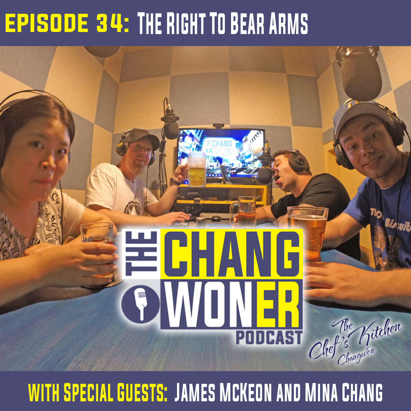 Artwork for Living in Daegu, Gun Violence in the US, and the Safety in South Korea. -guests James McKeon and Mina Chang (Ep 34)