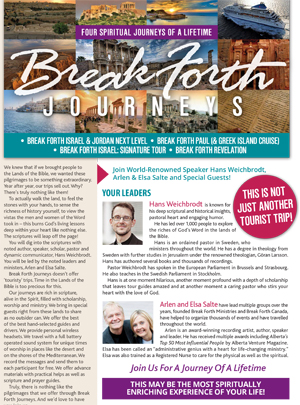 Break Forth Journeys Tours Brochure 2016-2017