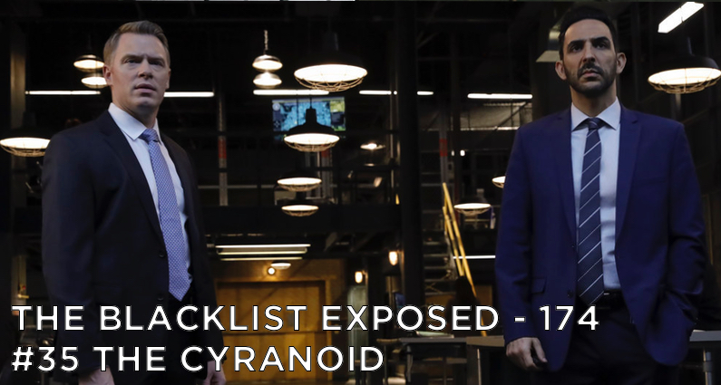 Ressler and Aram stare at Liz's Cyranoid