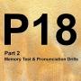 Artwork for P18 [2/2] Memory Test & Pronunciation Drills