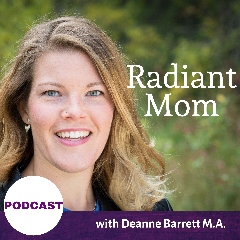 Radiant Mom podcast  show art