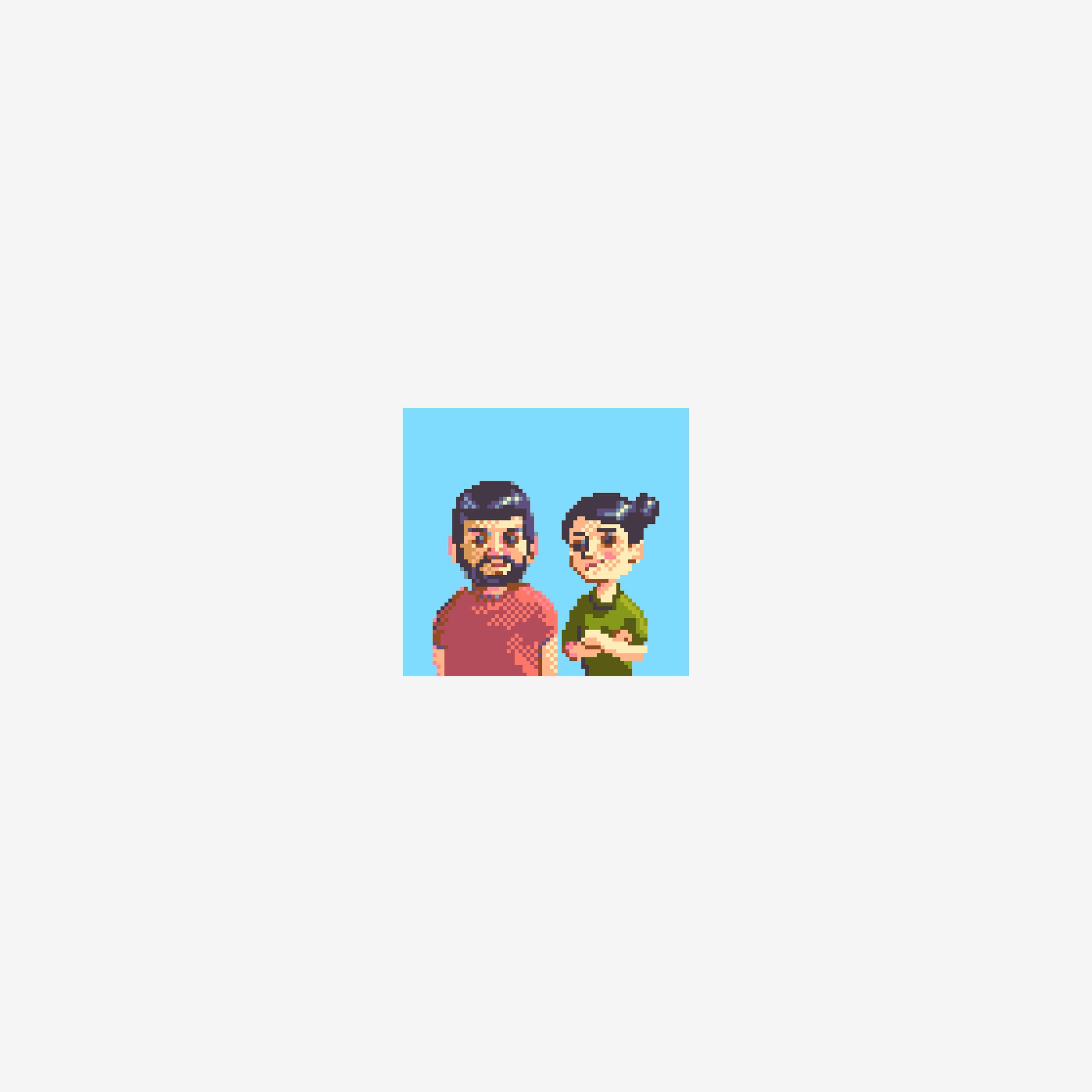 Sergio and Veronica Podcast show art