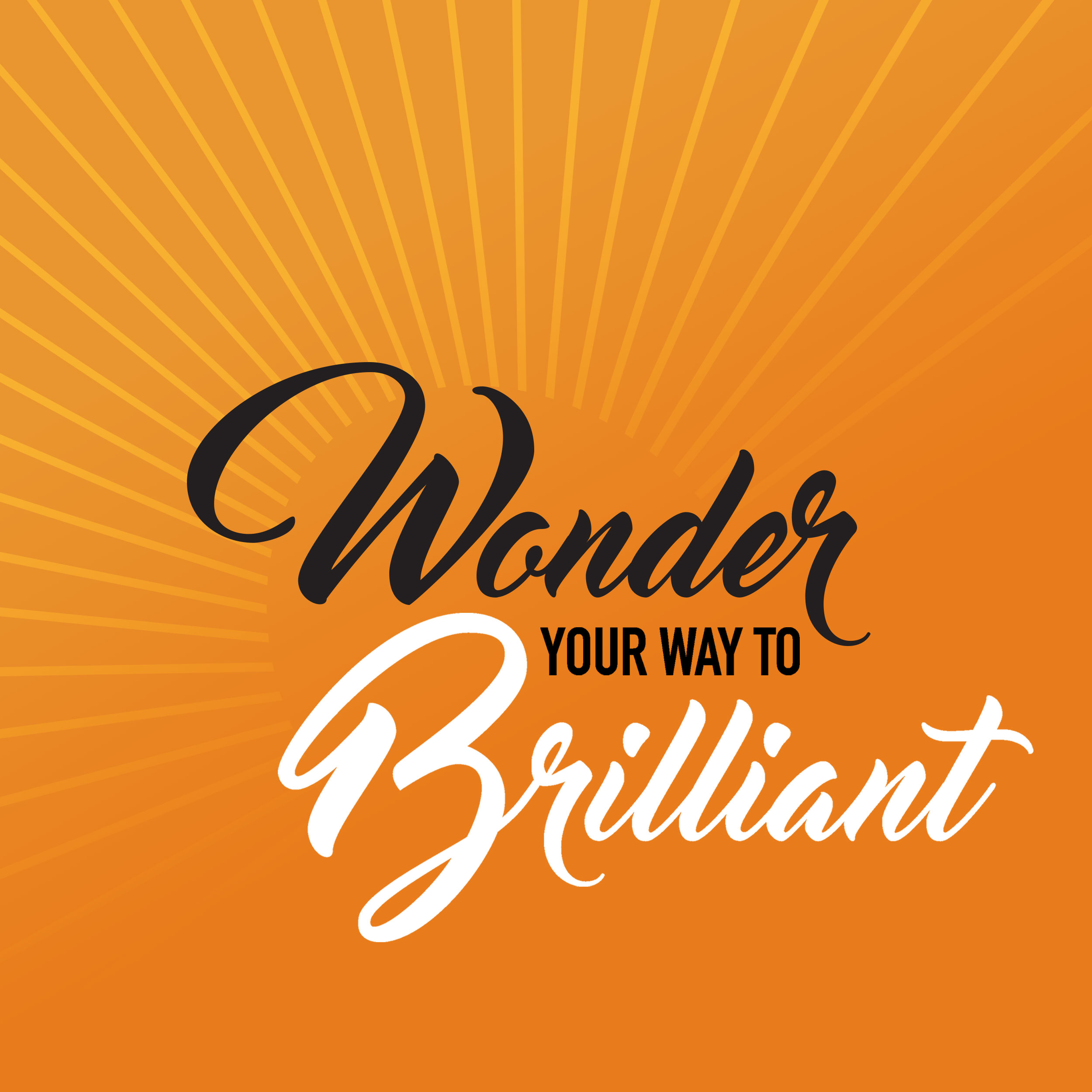 Wonder Your Way to Brilliant show art