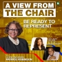 Artwork for Be Ready To Represent w/Lora J. McGill, M.D. FAAN Lead Principal Investigator with CNS Healthcare and Mr. Ammon Brookins, Project Manager for Clinical Trials| A VIEW FROM THE CHAIR