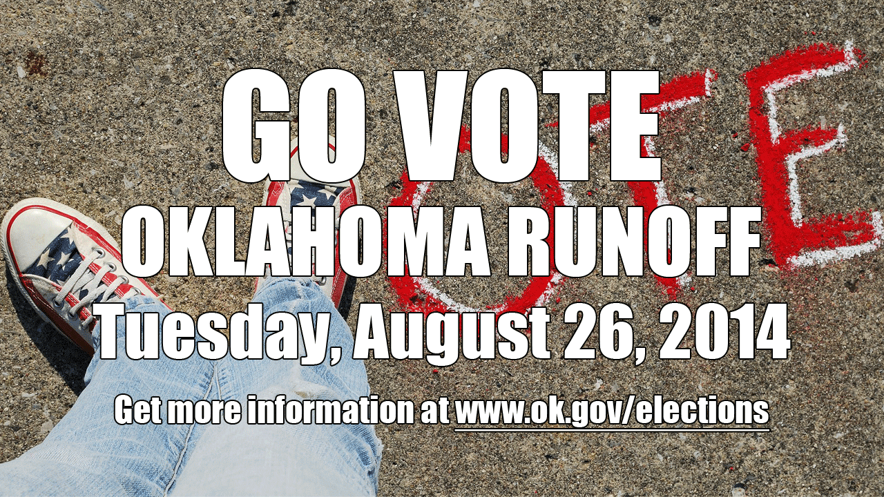 Artwork for Go Vote - Oklahoma Runoff Election - Tuesday, August 26, 2014