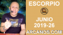 Artwork for HOROSCOPO ESCORPIO - Semana 2019-26 Del 23 al 29 de junio de 2019 - ARCANOS.COM