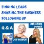 Artwork for Leads - Inviting- Following Up - Joy Bowen _ Christine Dwyer Q  A