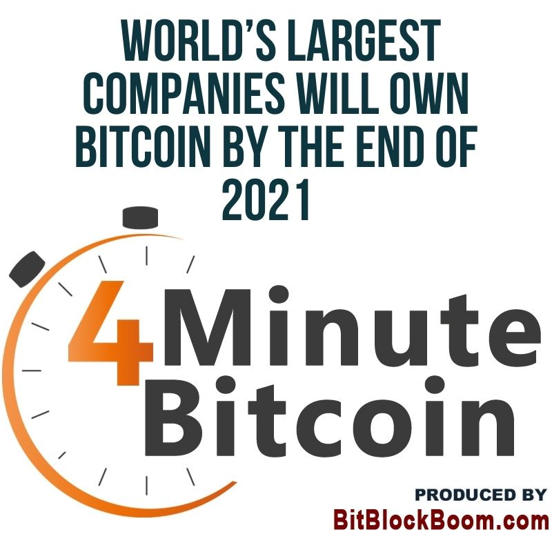 World's Largest Companies Will Own Bitcoin By The End of 2021