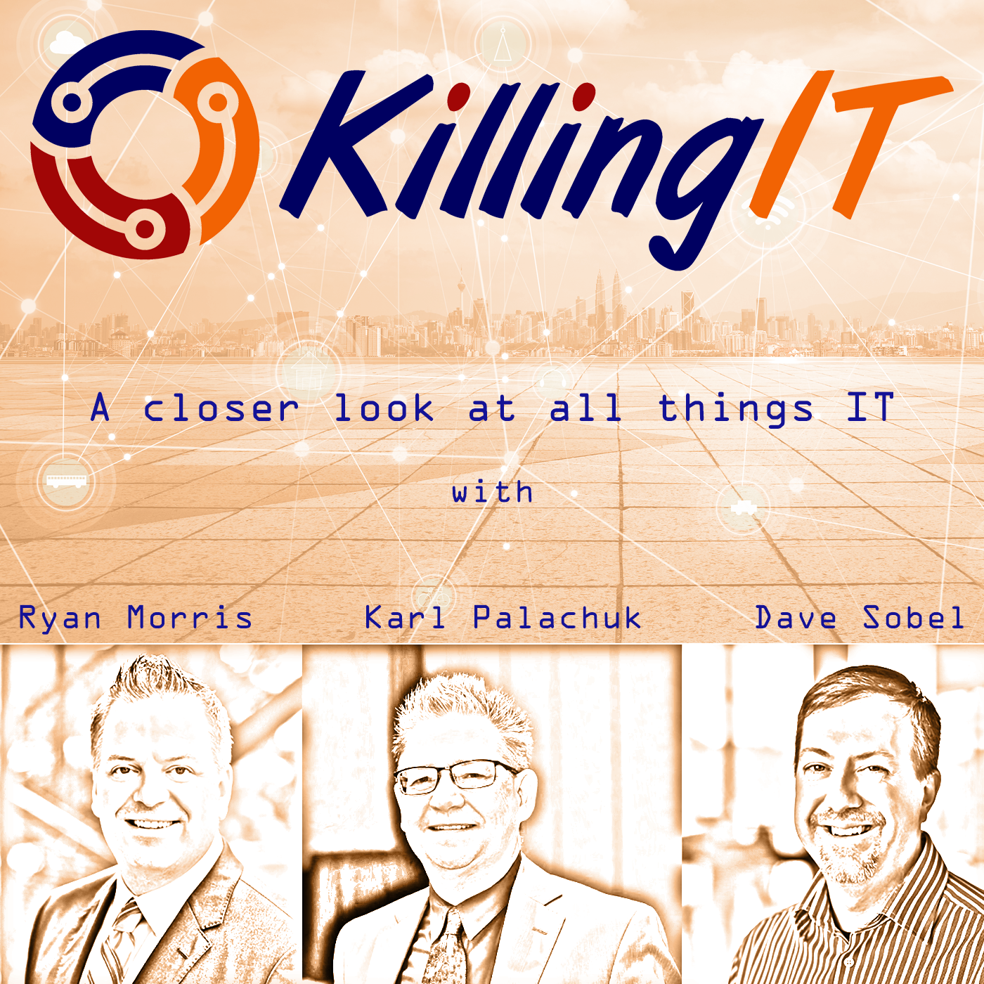 Artwork for Episode 91: AI Doppelgangers, Google Outage, and Vaccine Apps