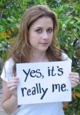 Could Jenna Fischer be ANY cooler?