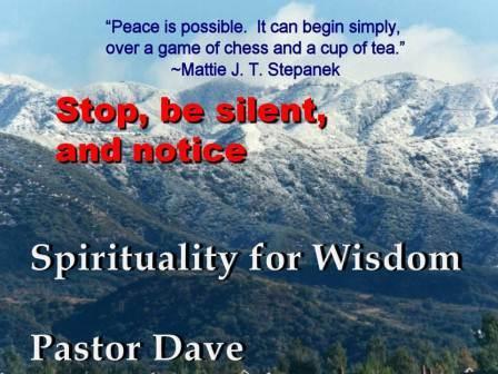 A Spirituality for Wisdom