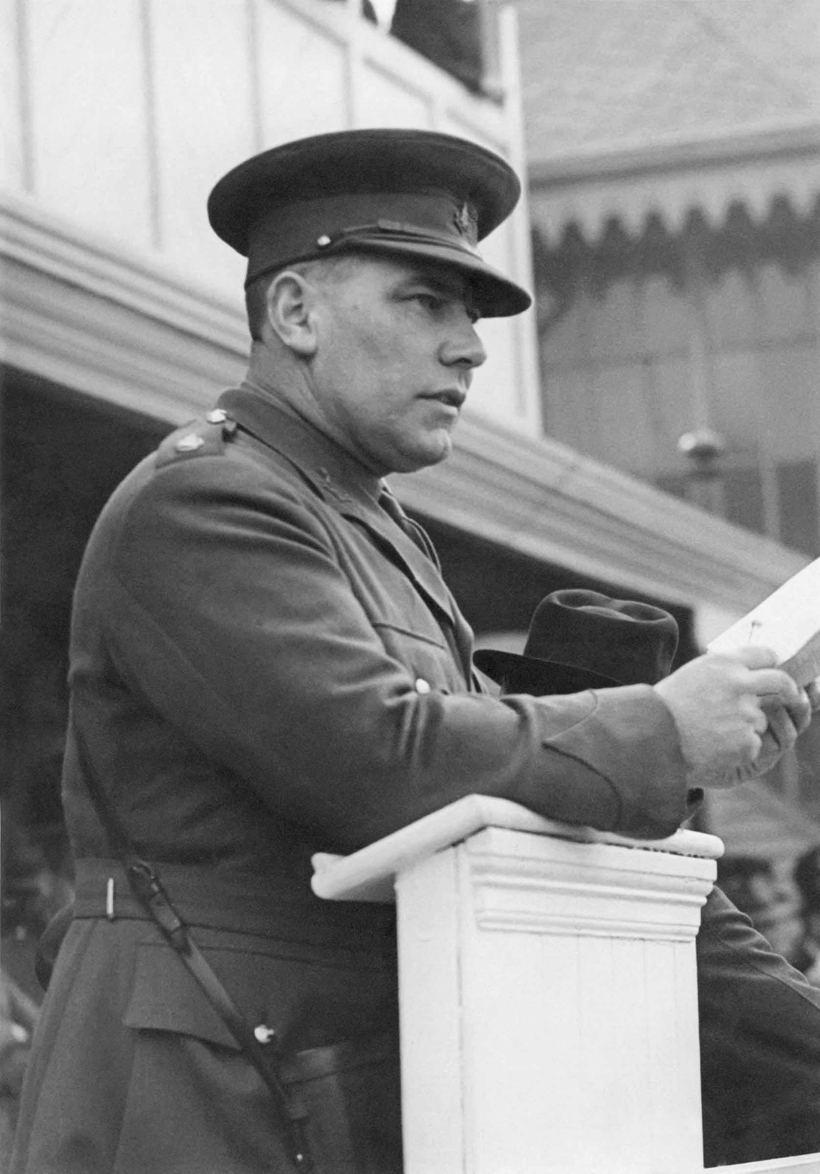 Major Leslie Petch OBE circa 1940