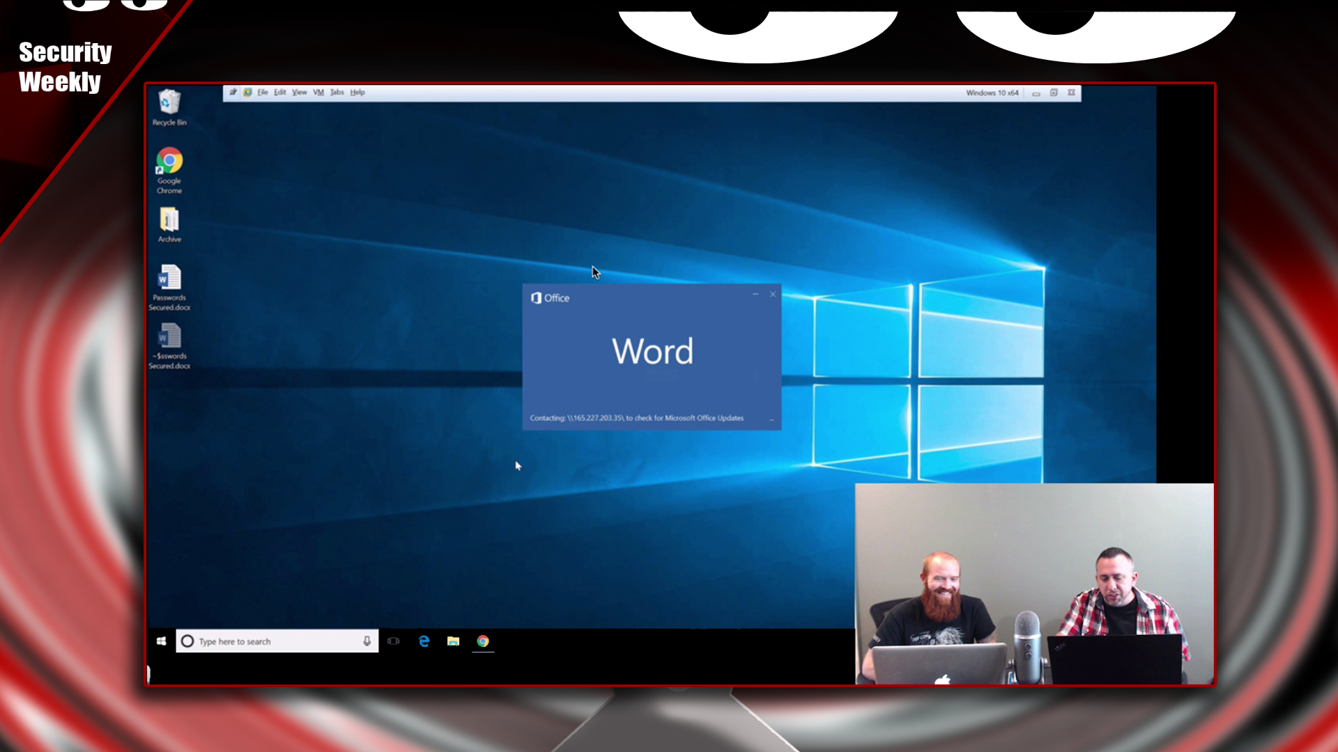 Artwork for Leaking Windows Creds Externally Via MS Office - Tradecraft Security Weekly #21