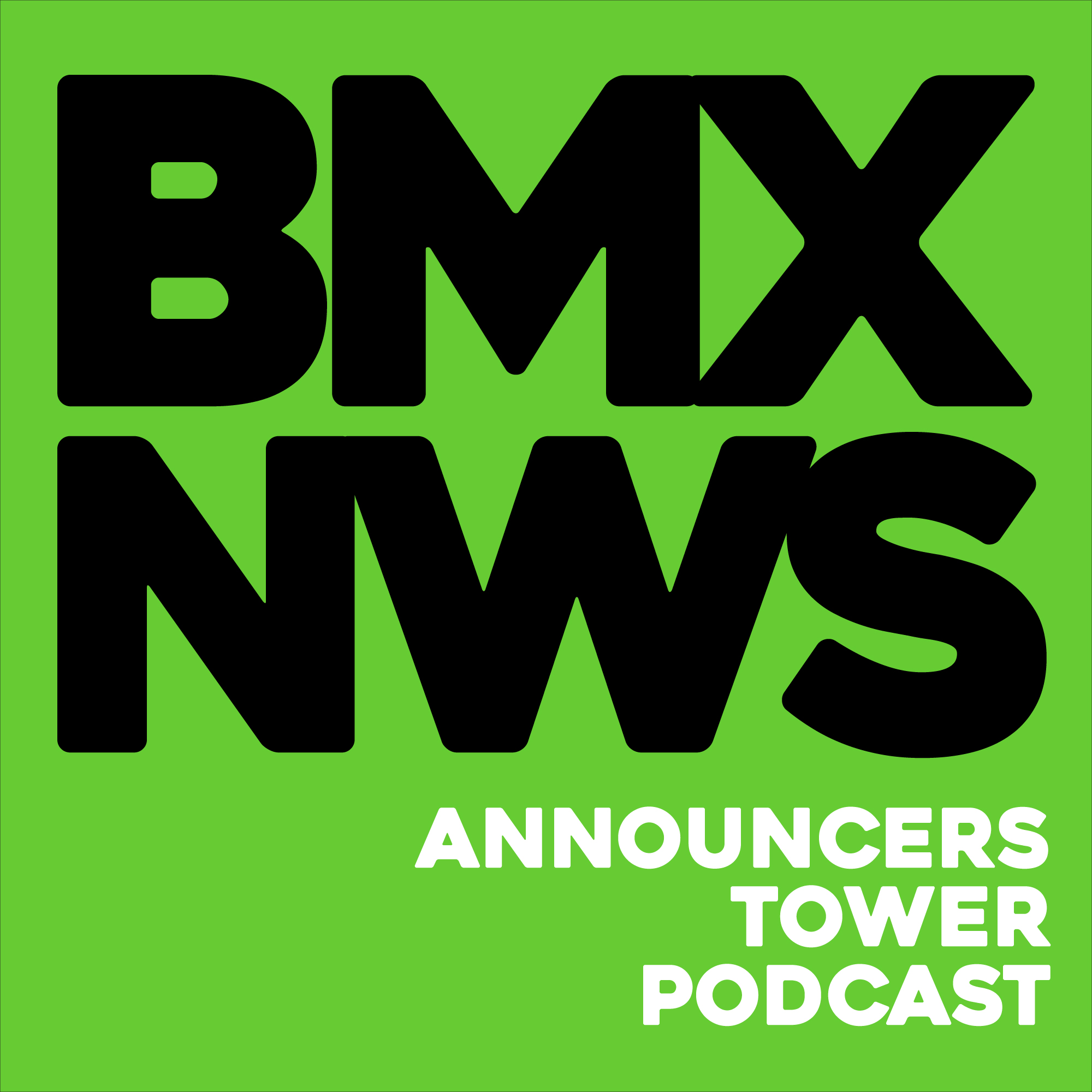 BMX News Announcers Tower Podcast show art