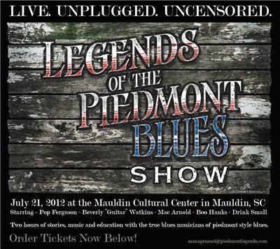 The BluzNdaBlood Show #145, Legends of the Piedmont Blues Show!