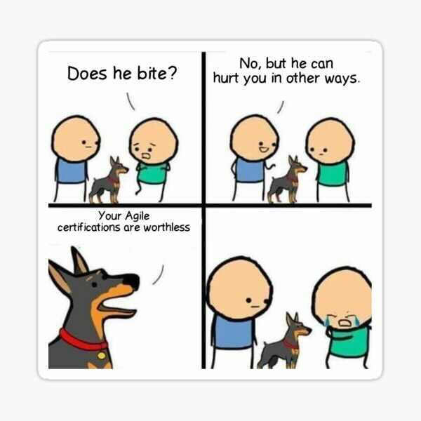 Agile Certification: Dog hurts in other ways