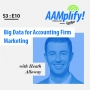 Artwork for AAMplify! - S3:E10 - Big Data for Accounting Firm Marketing