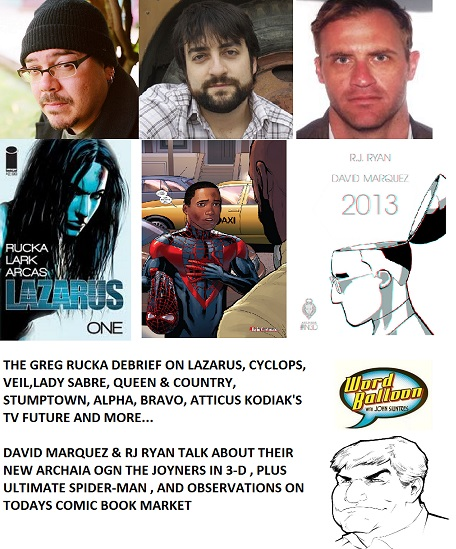 Word Balloon Podcast The Rucka Debrief -David Marquez & RJ Ryan