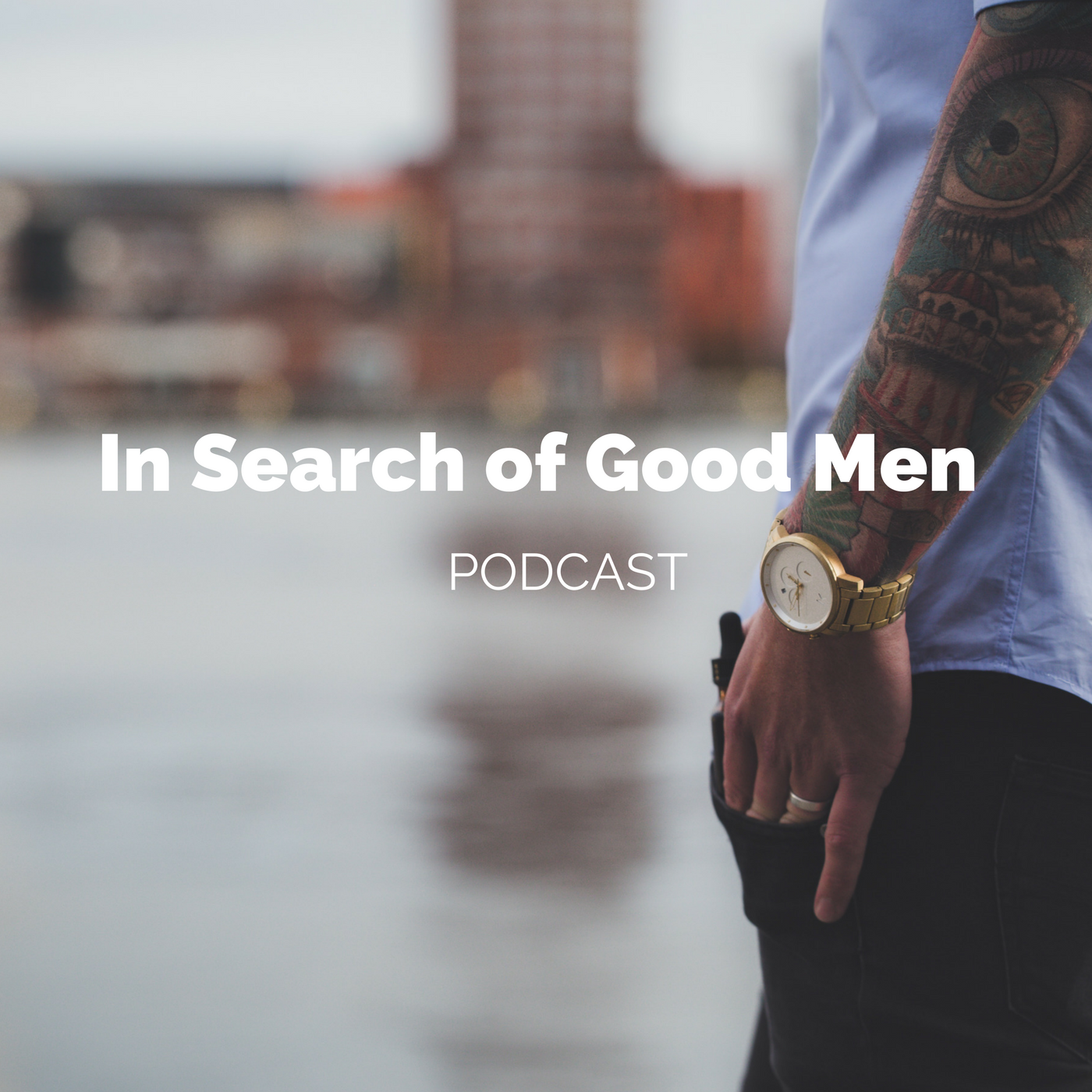 In Search of Good Men Podcast show art