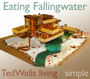 Eating Fallingwater: Frank Lloyd Wright and Gingerbread Architecture & Design