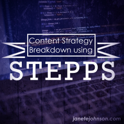 45 - Content Strategy Breakdown using STEPPS