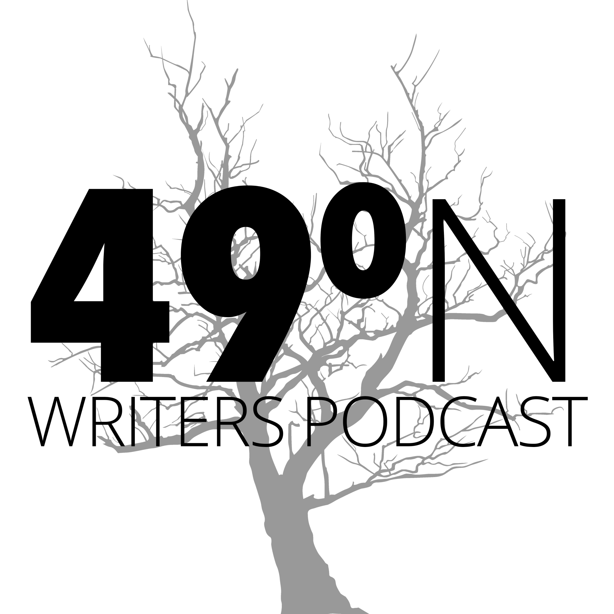 49 Degrees North Writers Podcast show art